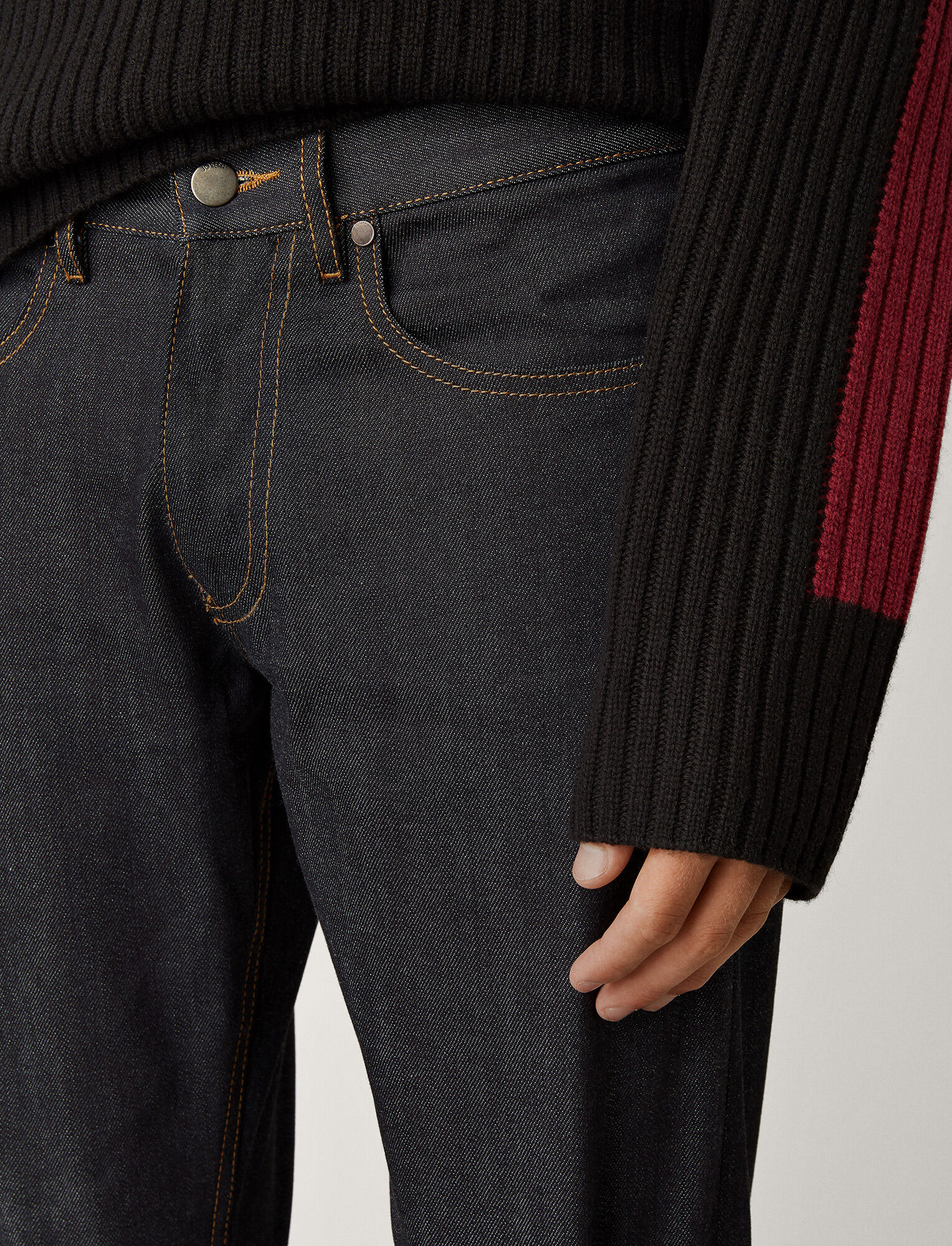 Joseph, Pantalon James en denim stretch, in DARK INDIGO