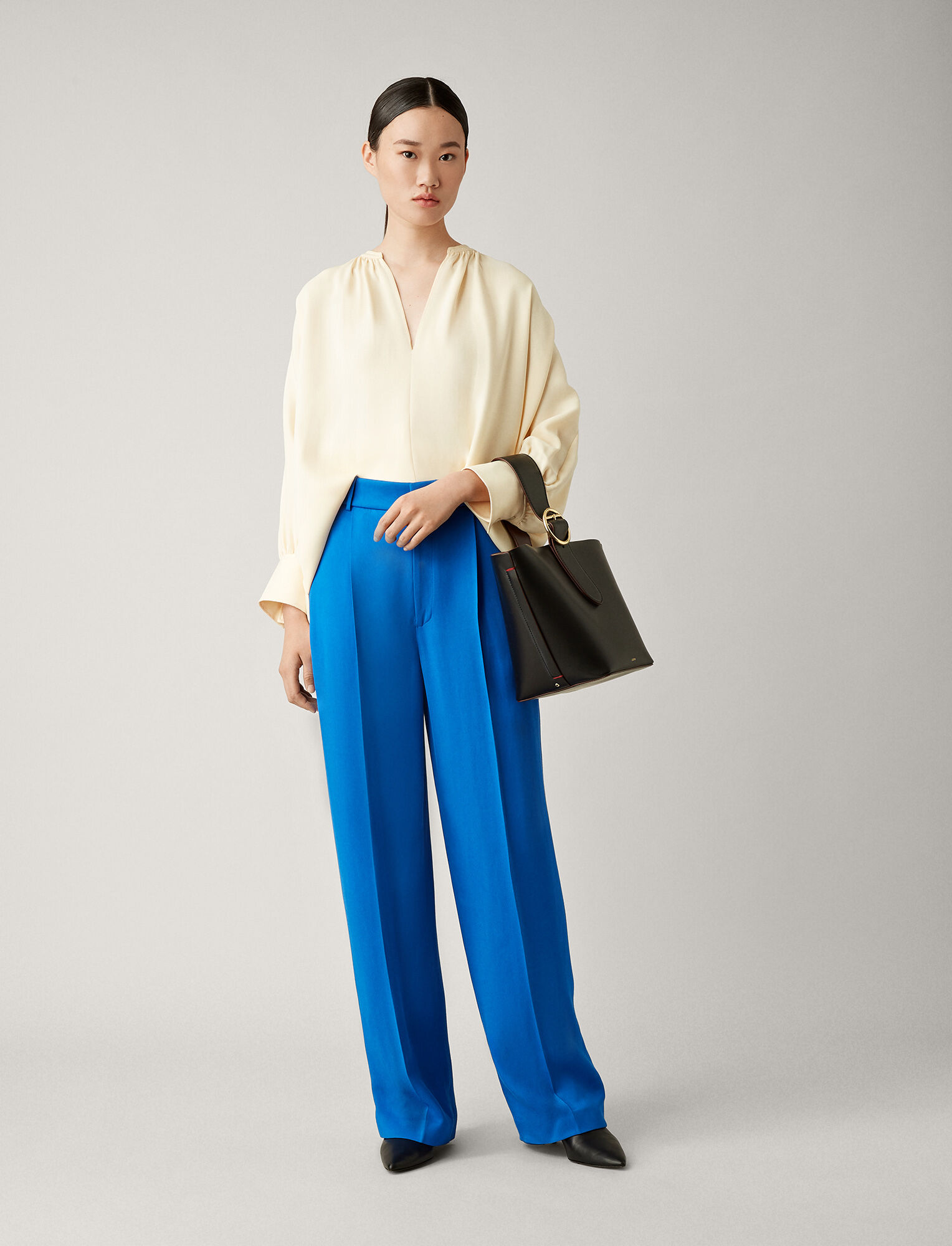 Joseph, Pantalon Quarius en twill, in PLASTIC BLUE
