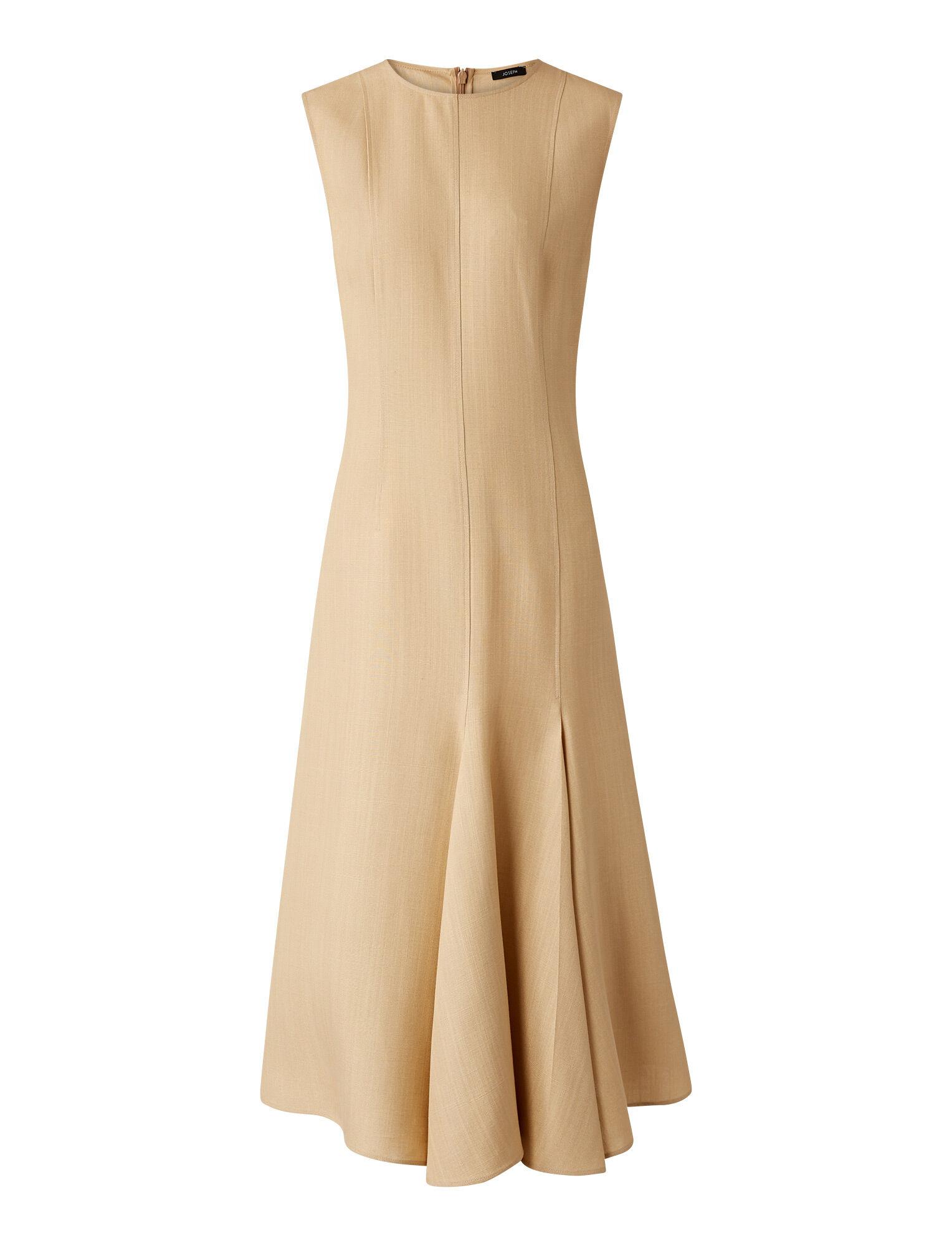 Joseph, Shantung Fowley Dress, in NUDE