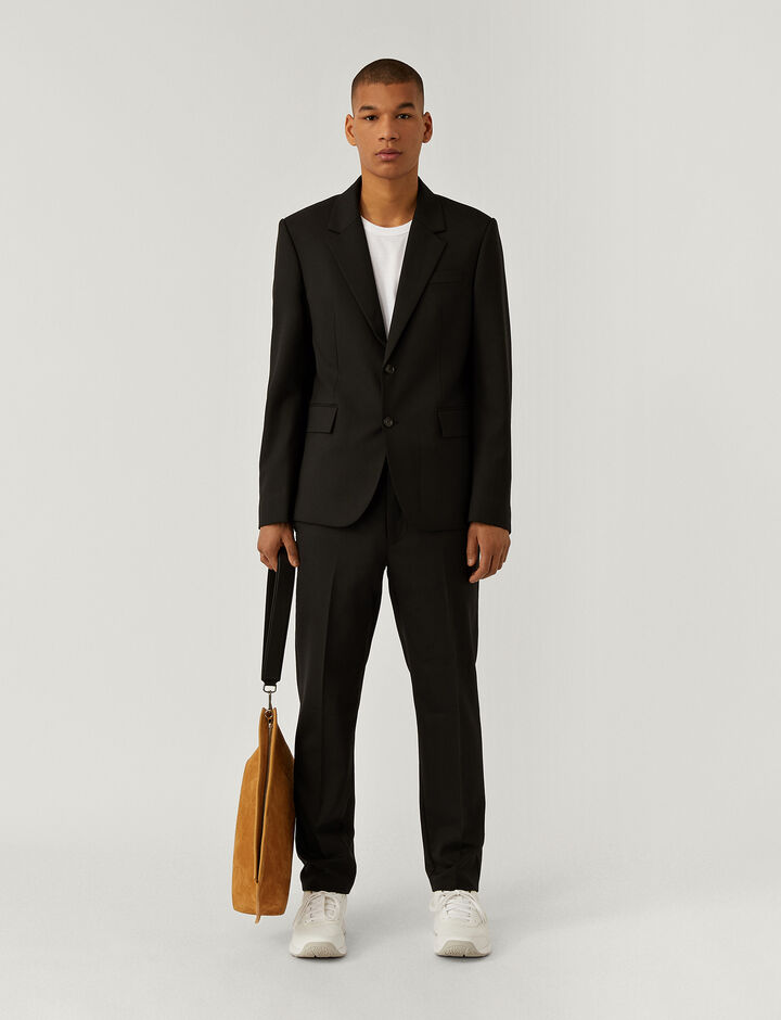 Joseph, Techno Wool Stretch Jacket, in BLACK