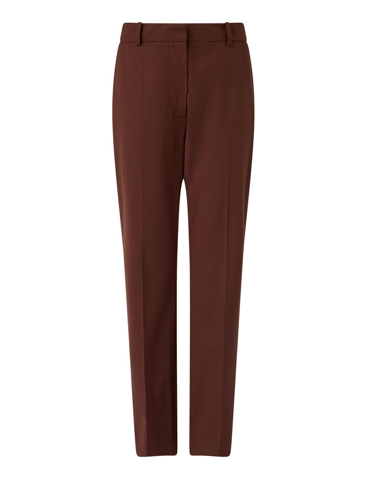 Joseph, Coleman Light Wool Suiting Trousers, in Ganache
