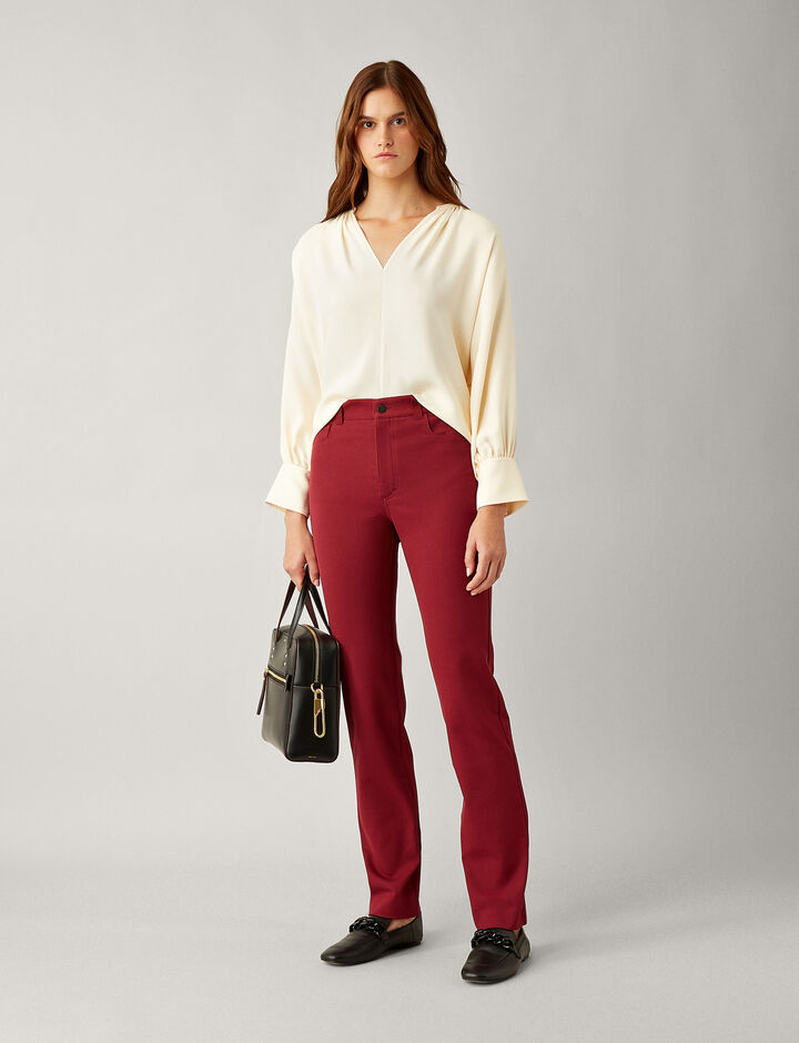Joseph, Elmo City Stretch Trousers, in GARNET