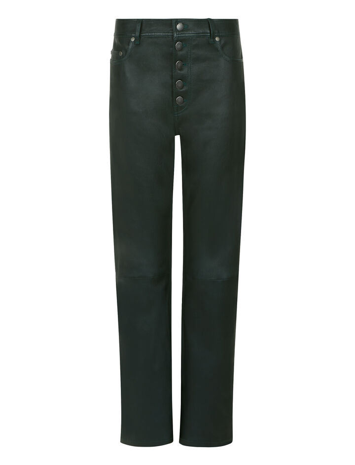 Joseph, Den Stretch Leather Trousers, in BERMUDA