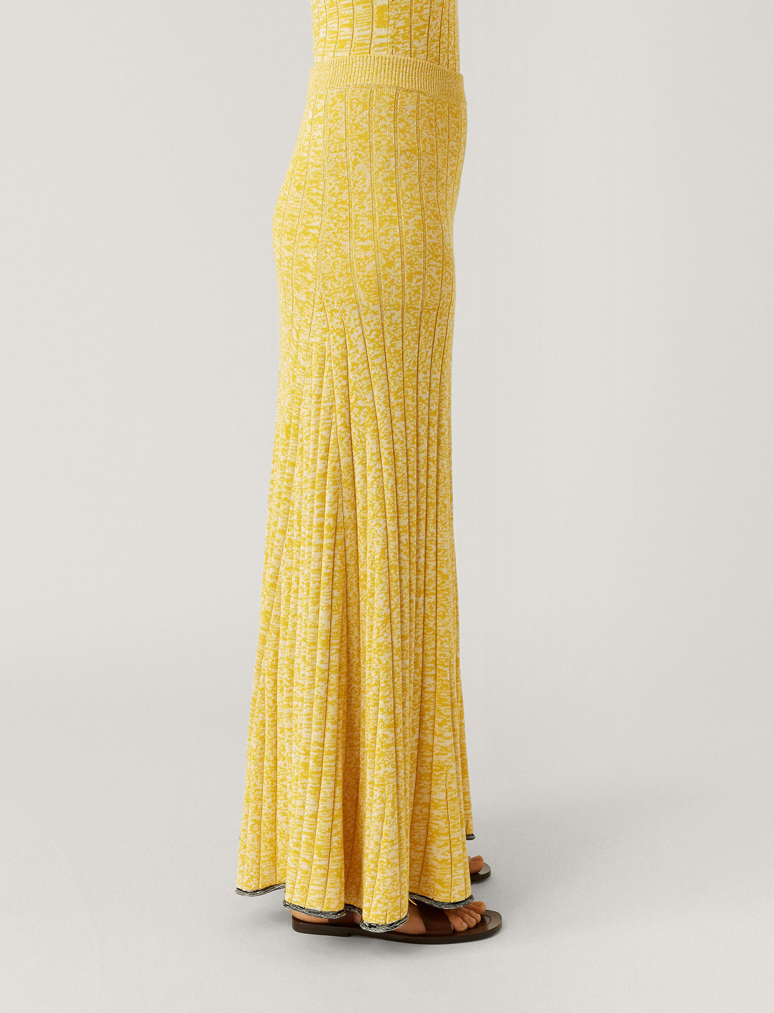 Joseph, Sally Cotton Viscose Rib Skirt, in YELLOW