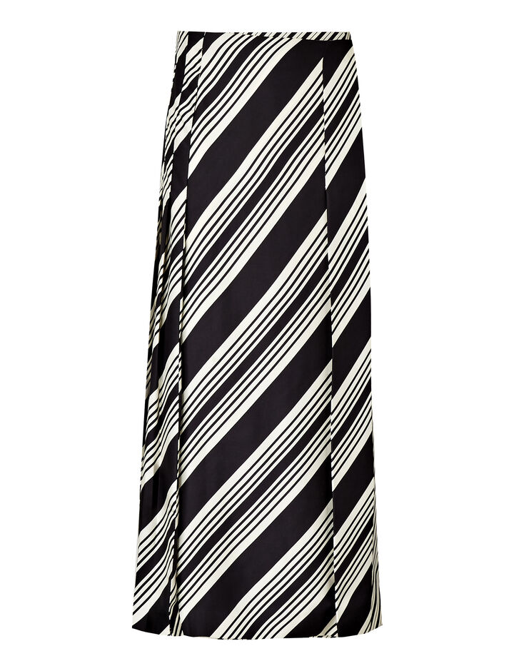 Joseph, Carey Diagonal Stripe Skirt, in BLACK COMBO