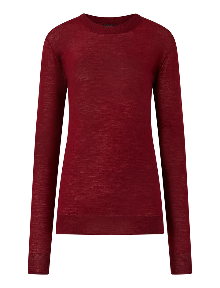 Joseph, Rd Nk Ls-Cashair, in BURGUNDY