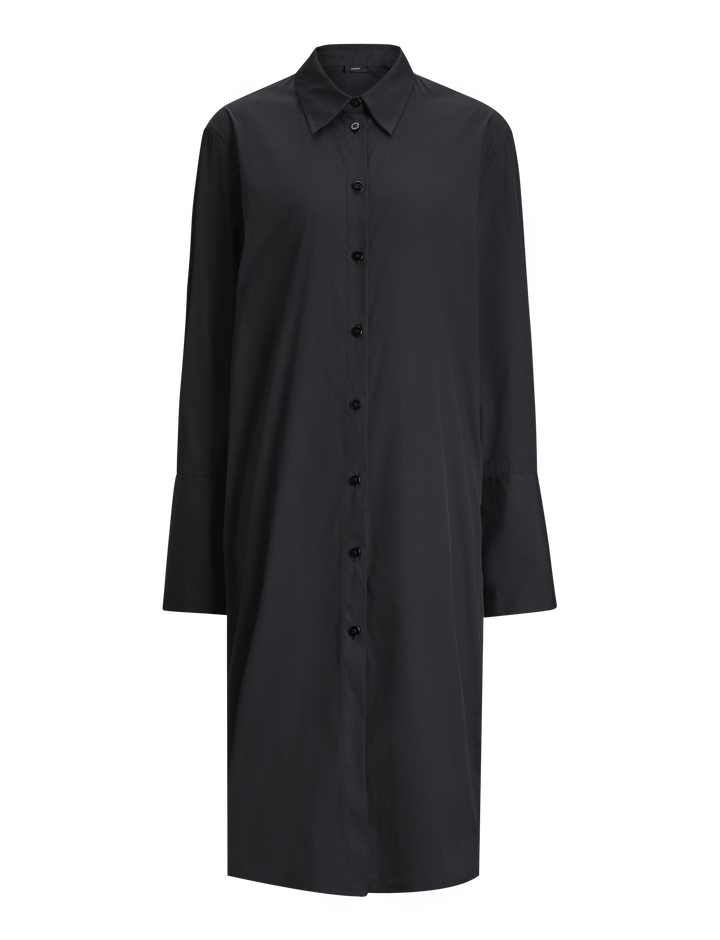 Joseph, Victor Poplin Stretch Dress, in BLACK