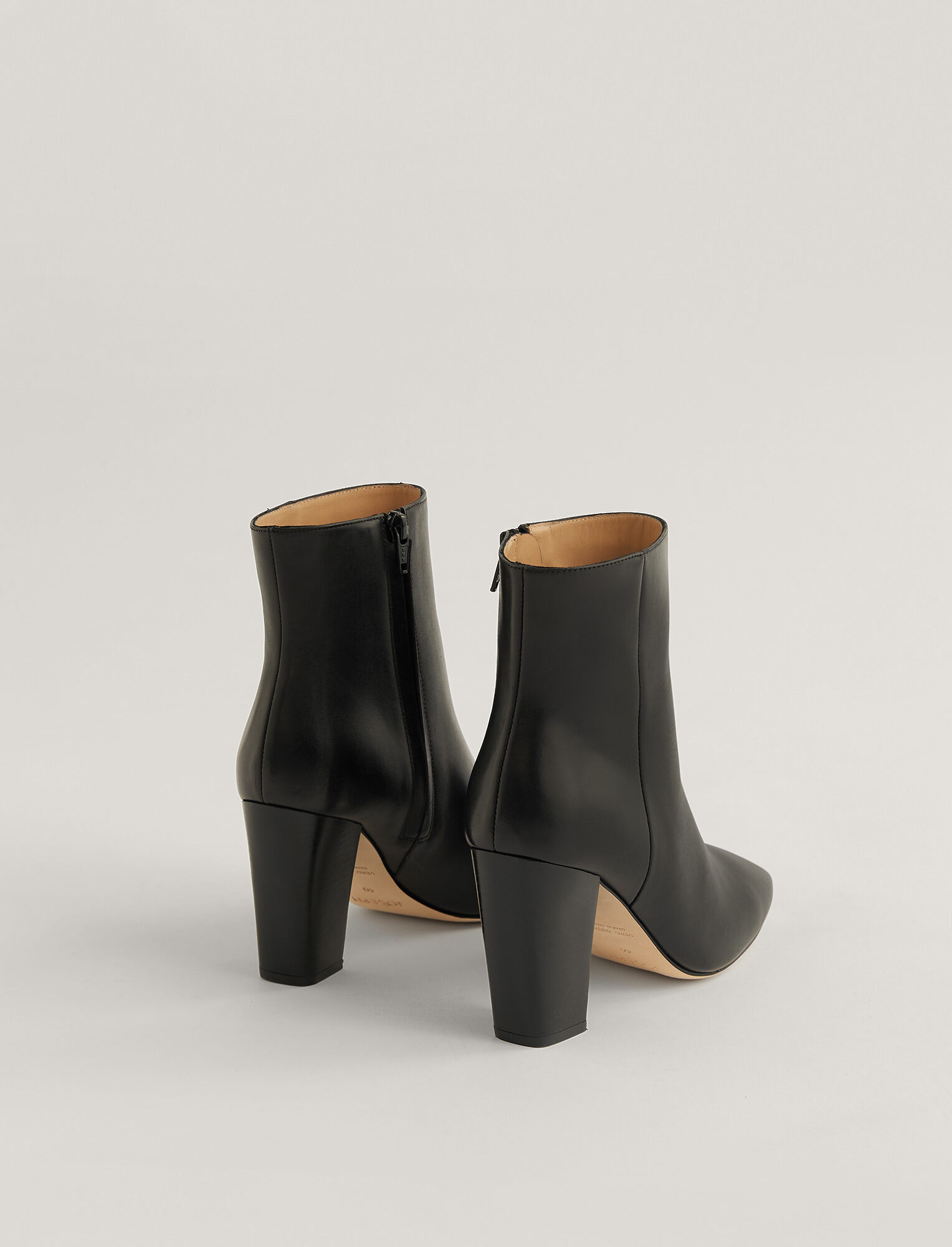Joseph, Square Heel Ankle Boots, in Black