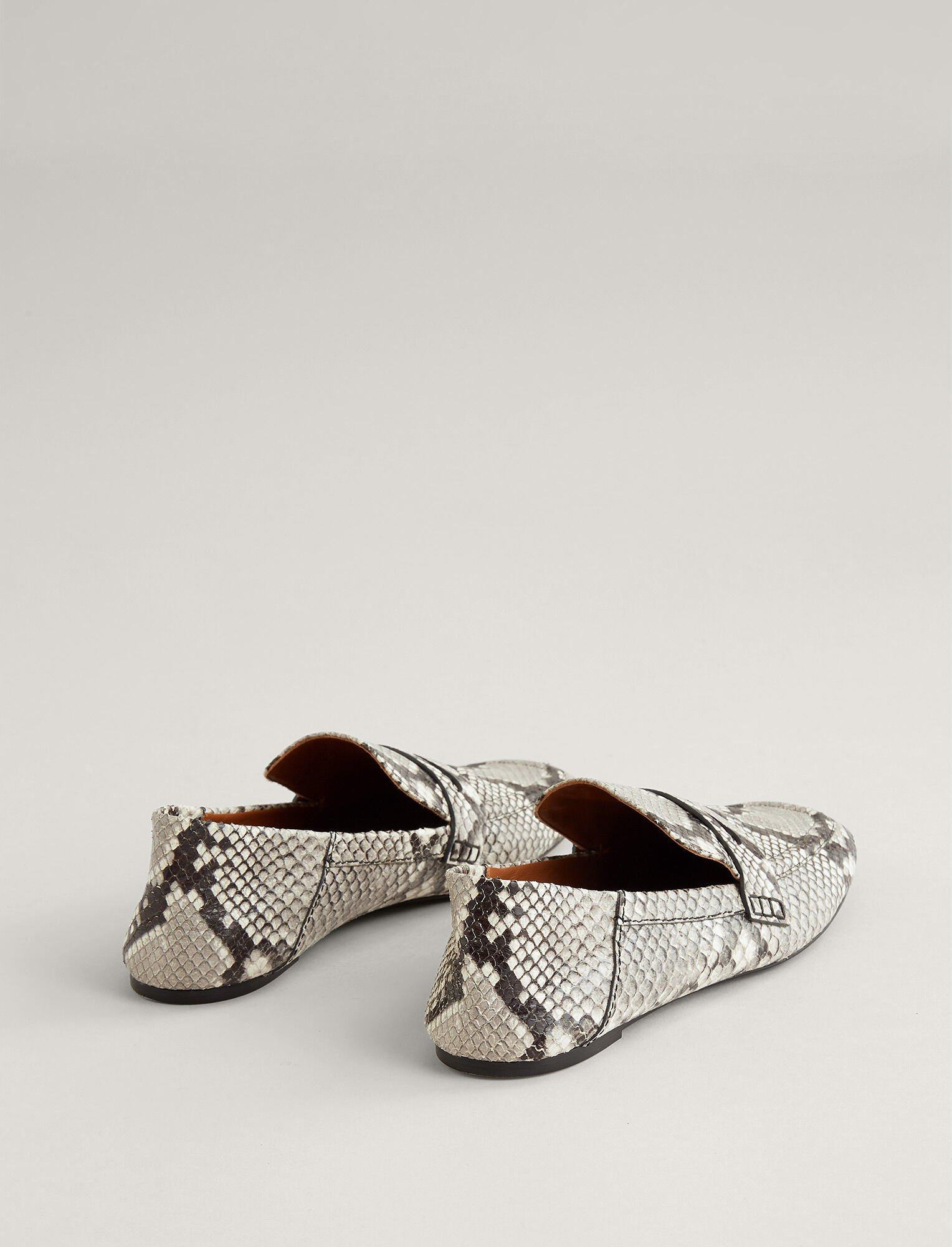 Joseph, Bakhta Leather Loafer, in WHITE/LIGHT GREY