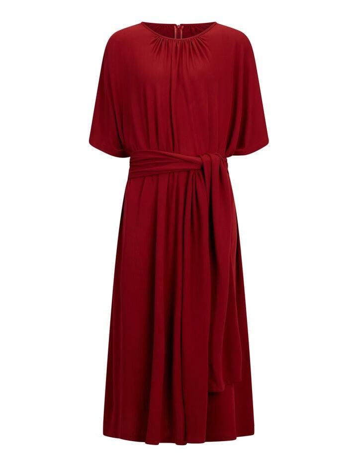 Joseph, Ibiza Crepe Jersey Dress, in CRIMSON