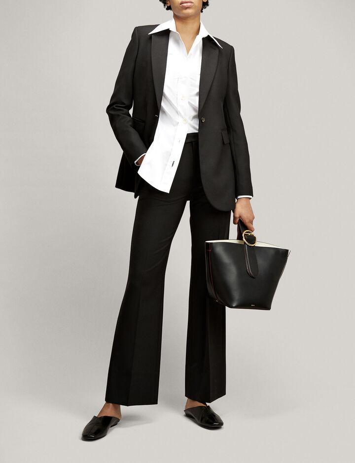 Joseph, Comfort-Wool Laurent Jacket, in Black