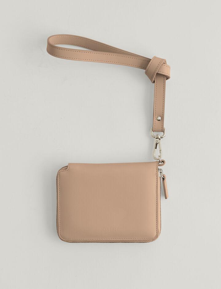 Joseph, Cozumel Light Strap Zip Wallet, in SIROCCO