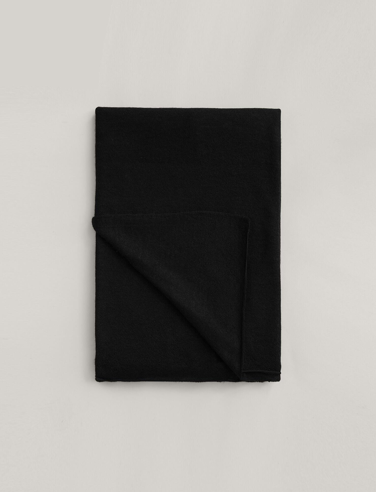 Joseph, Large Cashair Scarf, in BLACK
