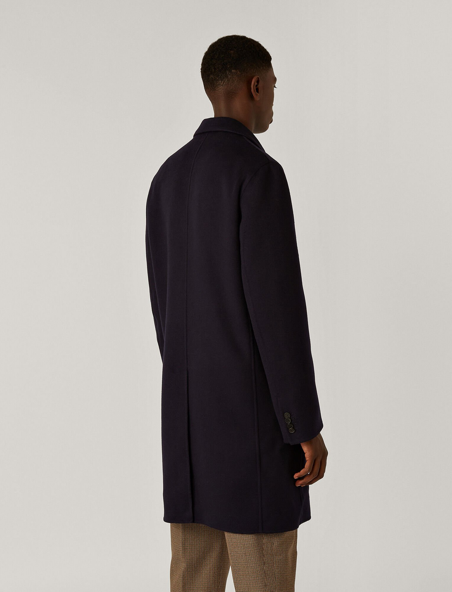 Joseph, Manteau Armand en double cachemire, in NAVY