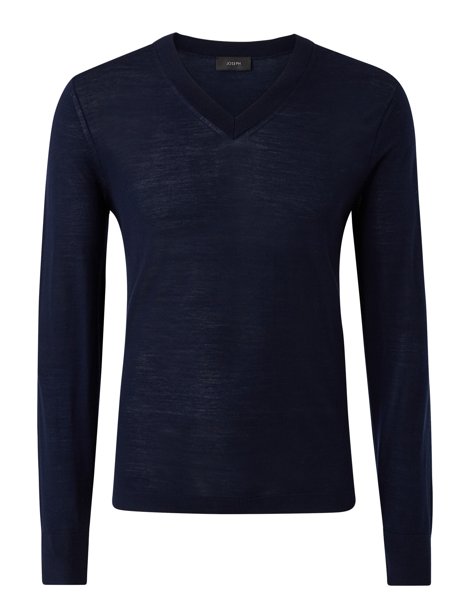 Joseph, V Neck Light Merinos Knit, in NAVY