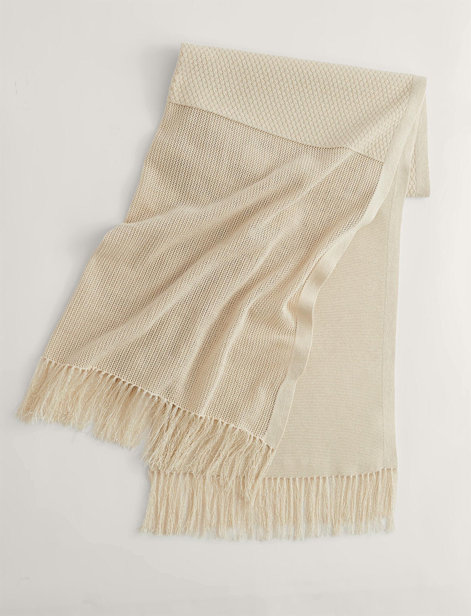 Joseph, Crispy Cotton Pareo Scarf, in PORCELAIN
