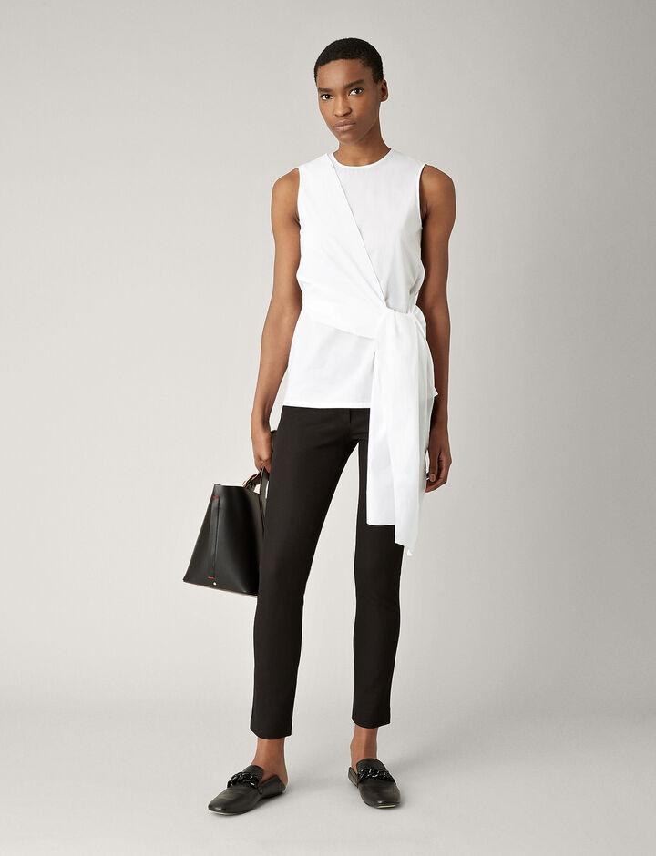 Joseph, New Eliston Gabardine Stretch Trousers, in BLACK