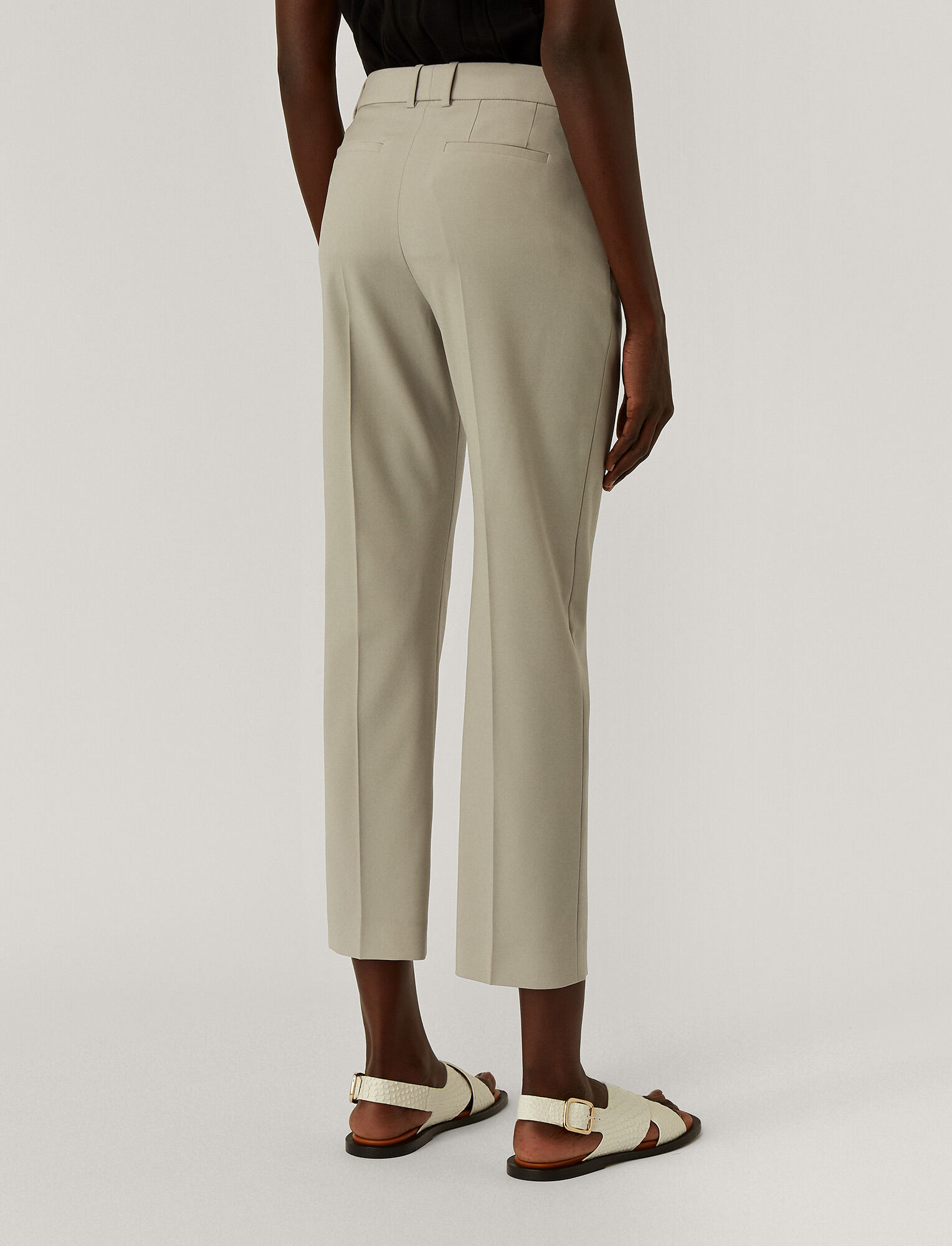 Joseph, Light Wool Suiting Tape Trousers, in CLOUD