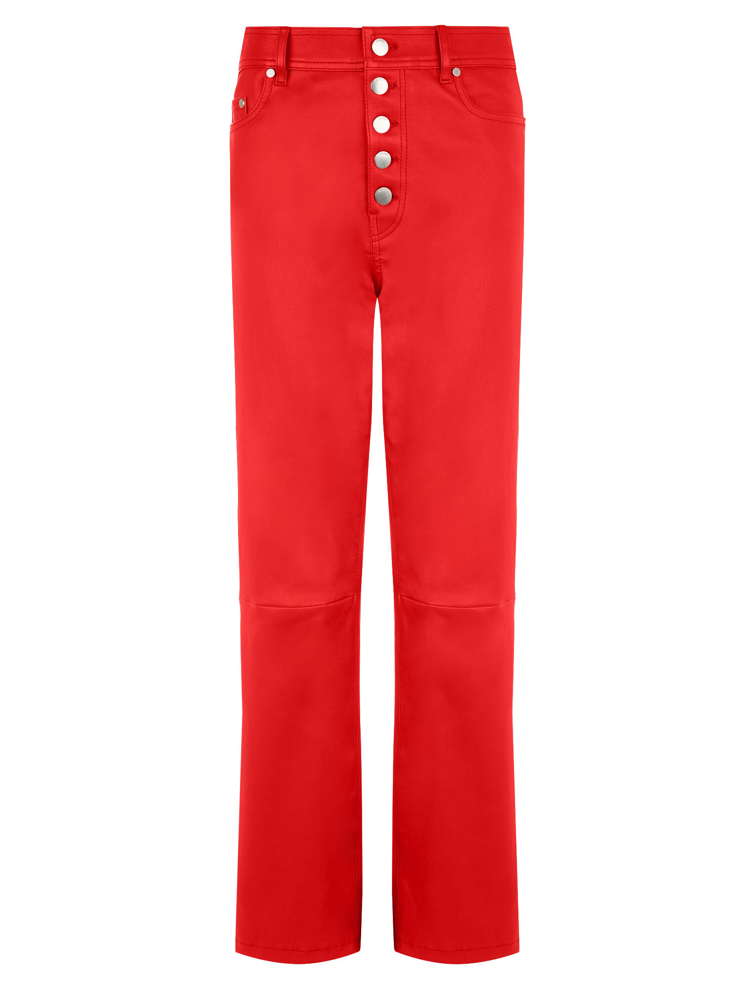 Joseph, Den Stretch Leather Trousers, in TOMATO