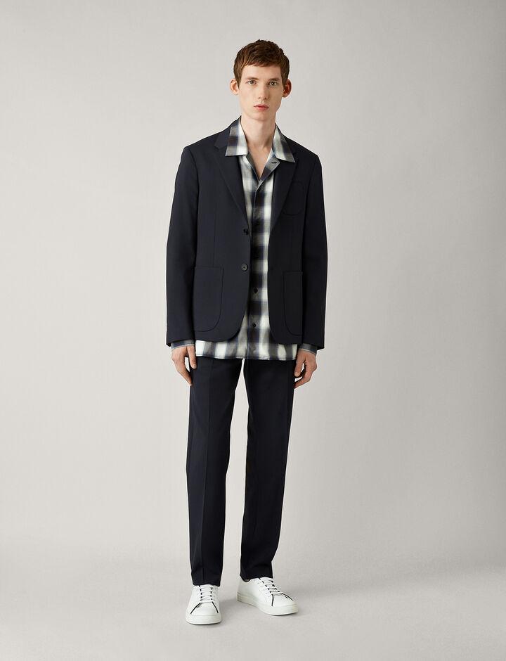 Joseph, Cassels-Fine Comfort Wool, in NAVY