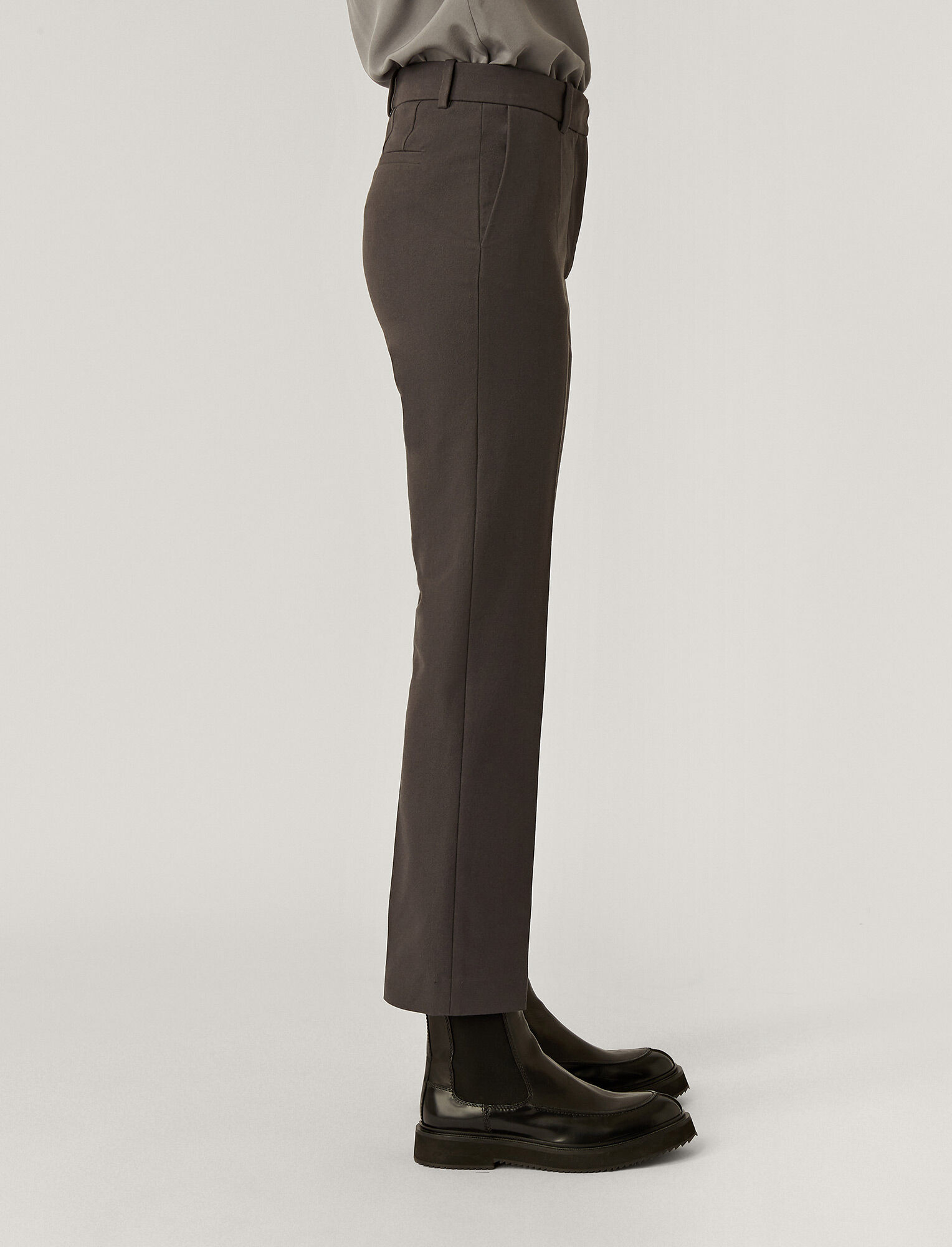Joseph, Gabardine Stretch Coleman Trousers, in CAPERS