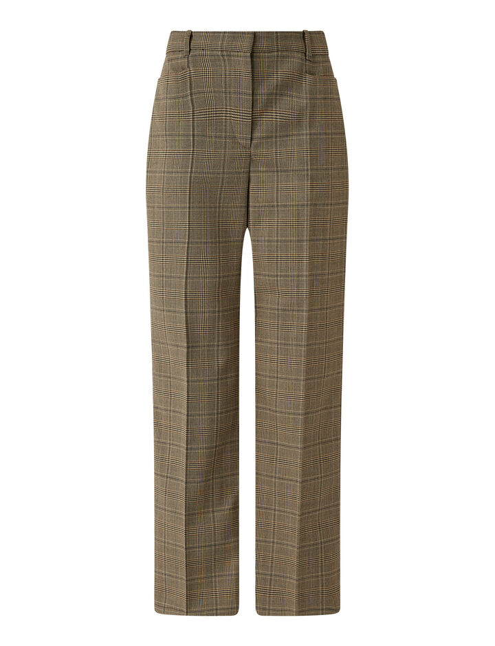 Joseph, Sloe Glen Plaid Trousers, in Saddle