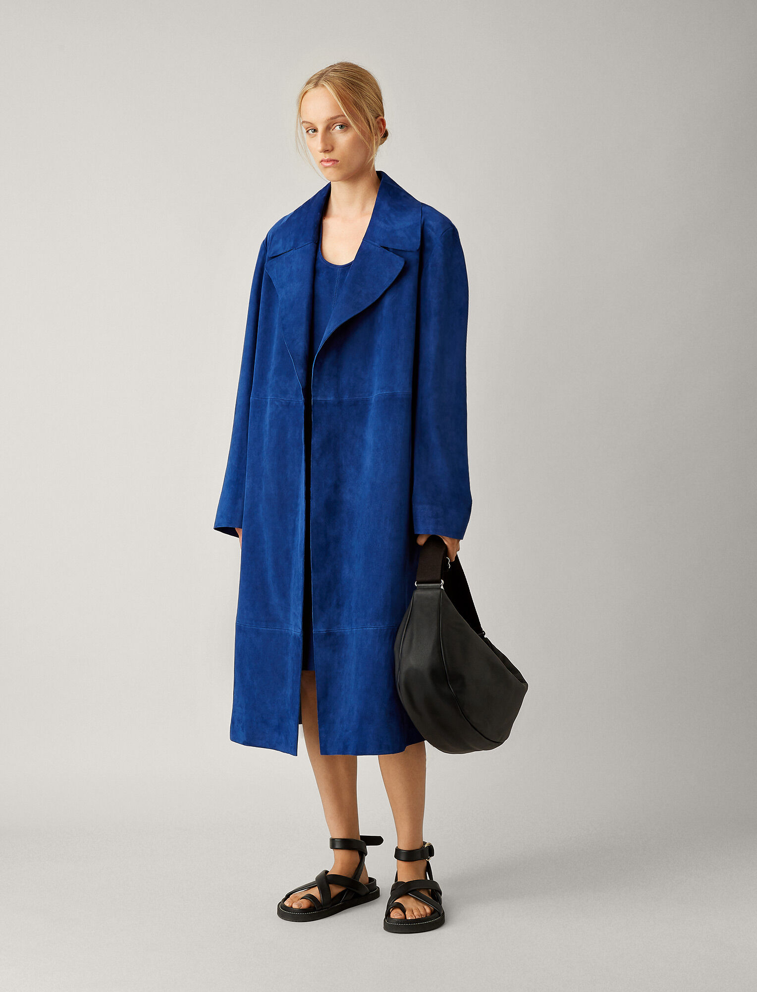 Joseph, June Suede Coat, in KLEIN