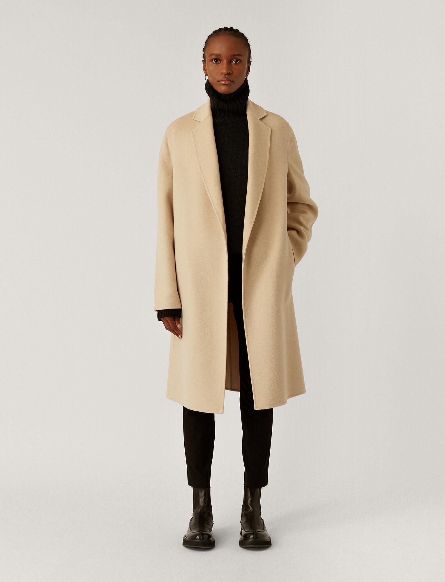 Joseph, Double Face Cashmere Cenda Long Coat, in CHAMPAGNE