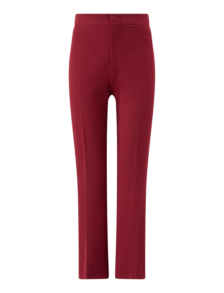 Joseph, Terell City Stretch Trousers, in GARNET
