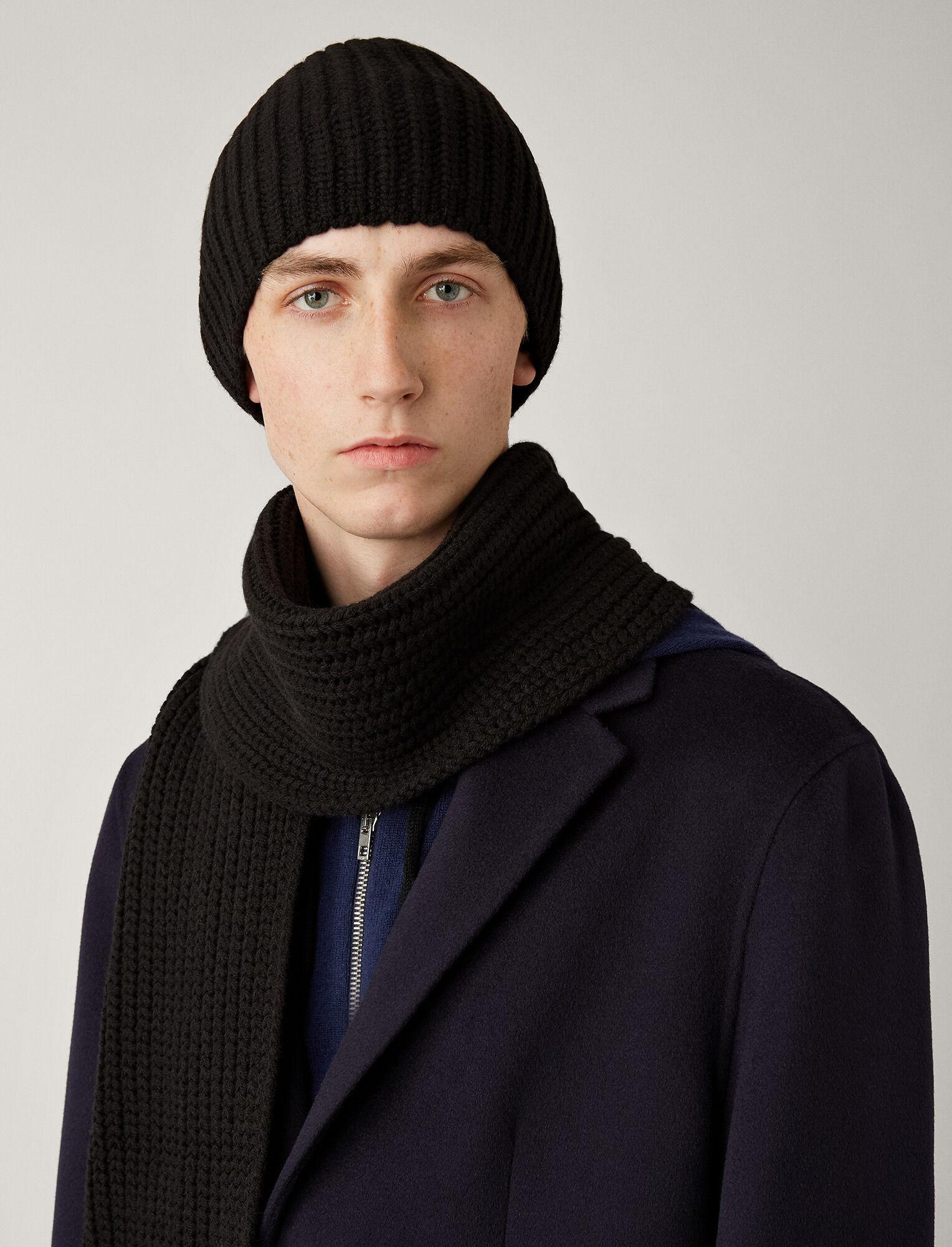 Joseph, Hat Soft Wool Knit, in BLACK
