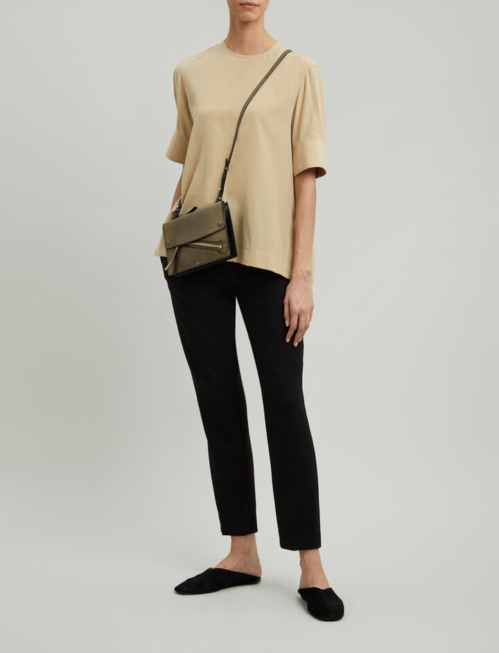 Joseph, Torrin Silk Toile Blouse, in PALE FLAXEN