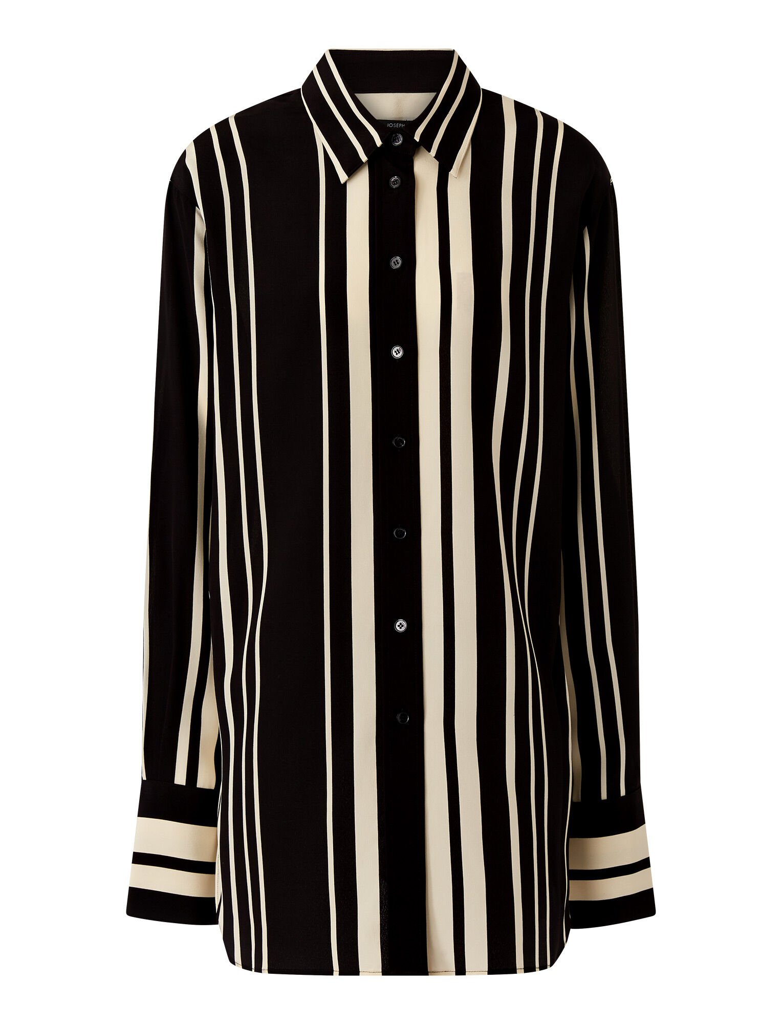 Joseph, Silk Stripes Brooks Blouse, in GREY/BLACK