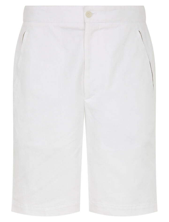 Joseph, Pins Cotton Drill Stretch Shorts, in OFF WHITE