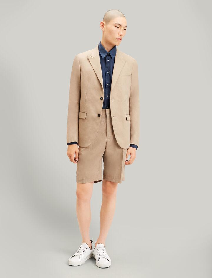 Joseph, Plage Linen Cotton Blend Shorts, in SAND