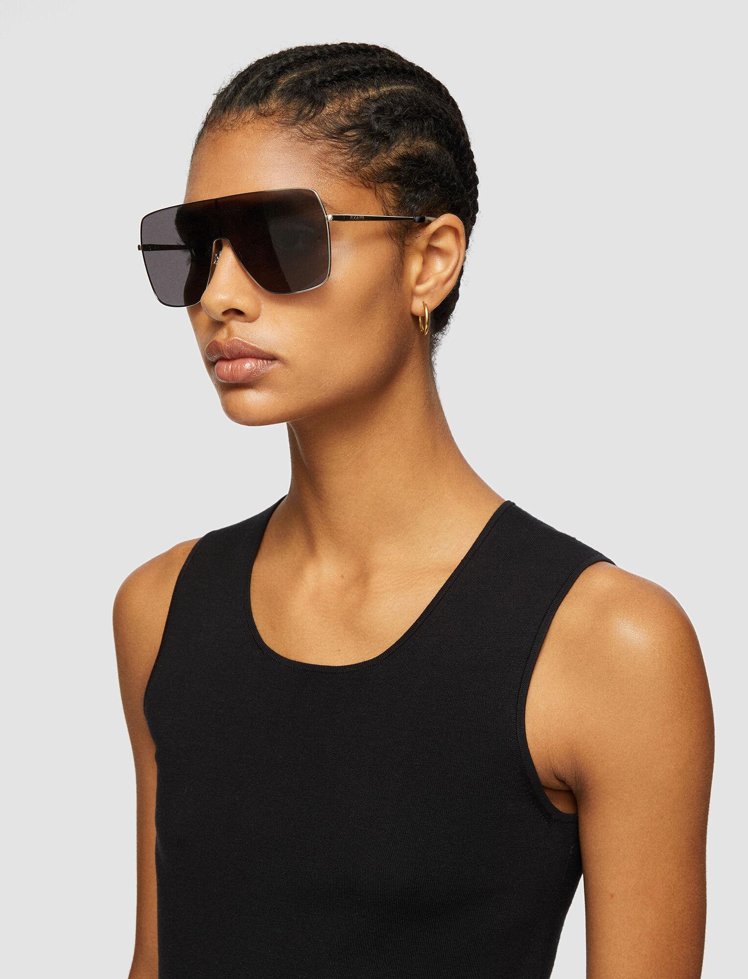 Joseph, Oversized D-Frame Sunglasses, in TITANIUM