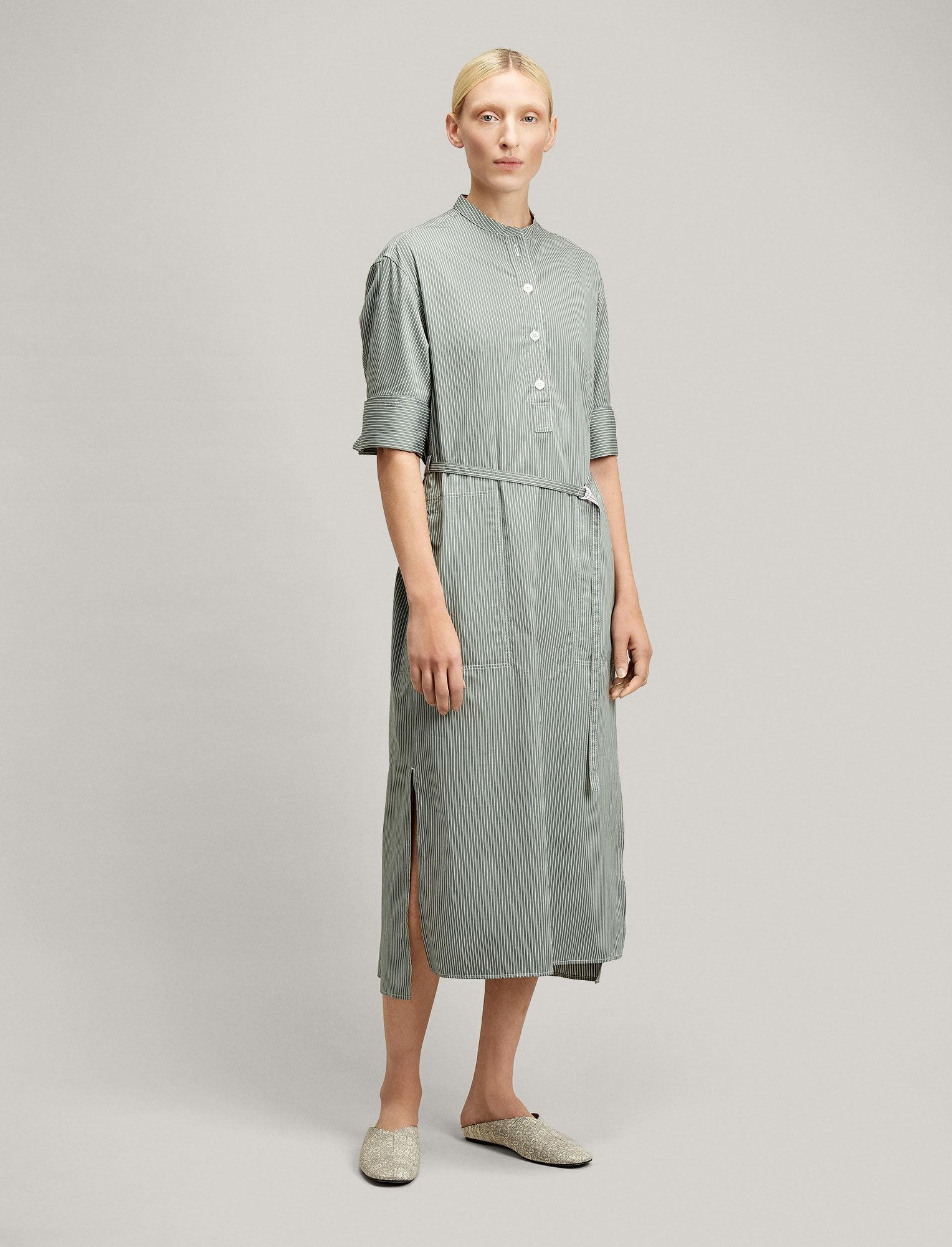 Joseph, Barker Pinstripe Mix Dress, in CLOVER