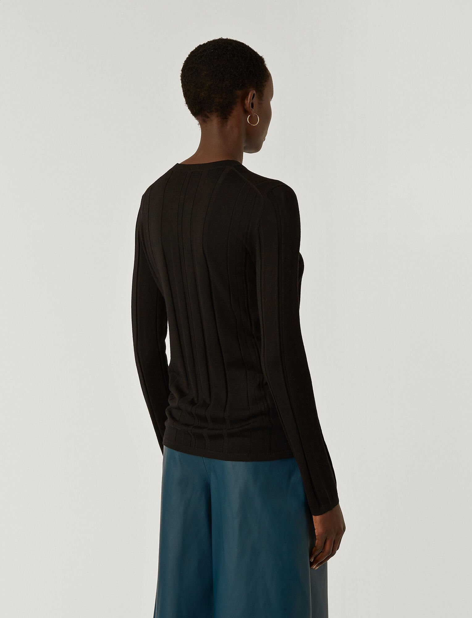 Joseph, Fine Merinos Jumper, in BLACK