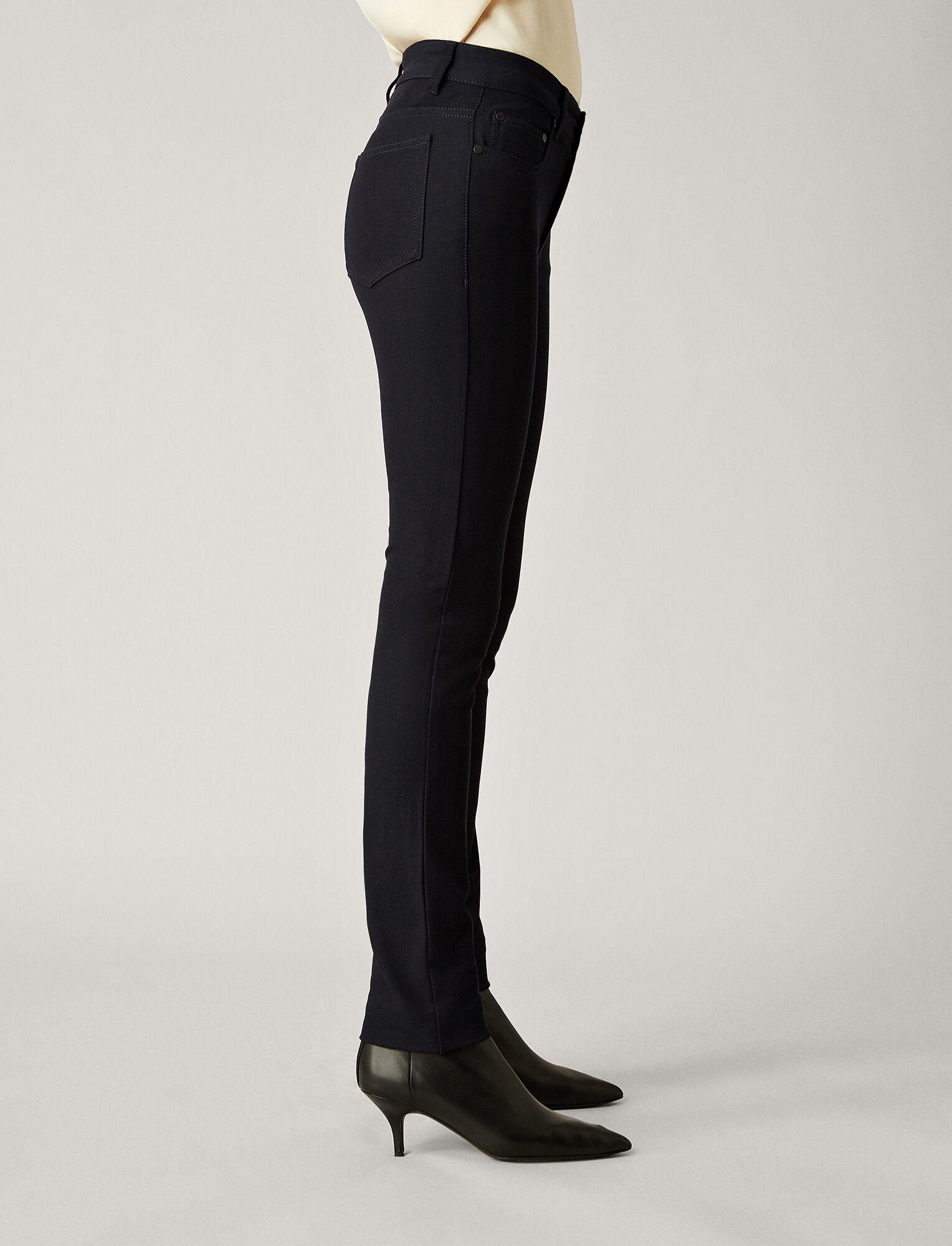 Joseph, Cloud Gabardine Stretch Trousers, in NAVY