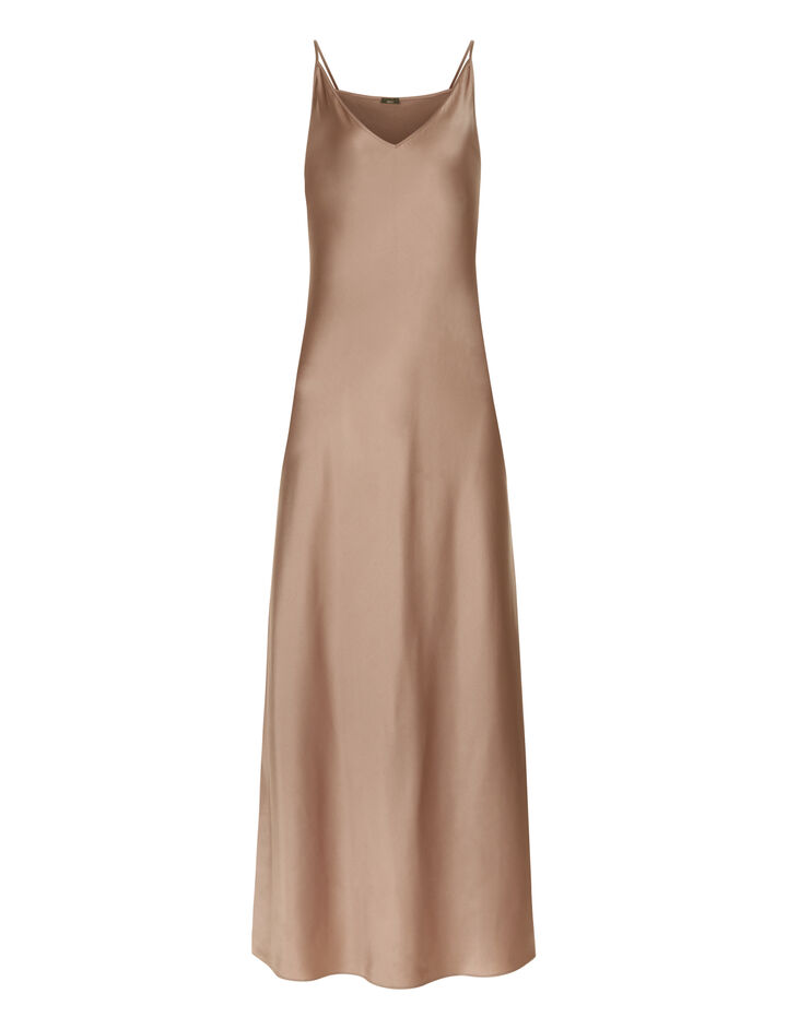 Joseph, Clea Silk Satin Dress, in DERNIER
