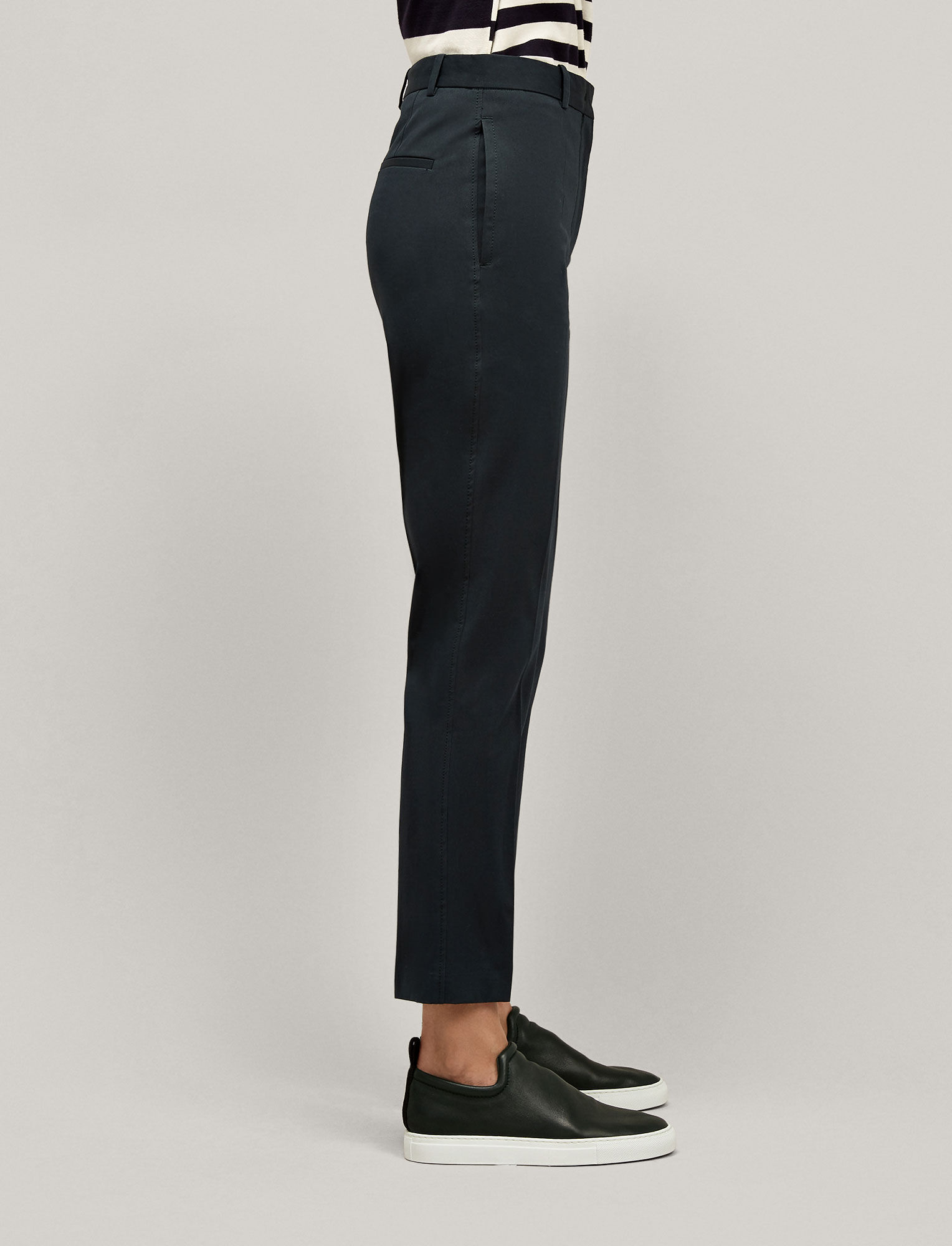 Joseph, Zoom Cotton Stretch Trousers, in BERMUDA