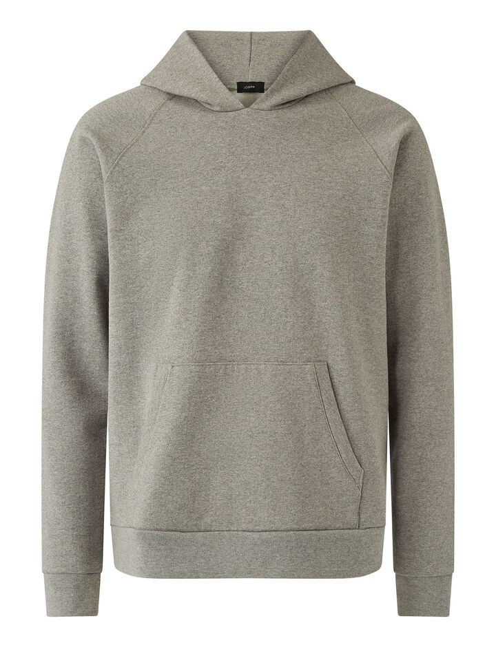 Joseph, Hoodie Cotton Cashmere Terry Jersey Jersey, in Light Grey