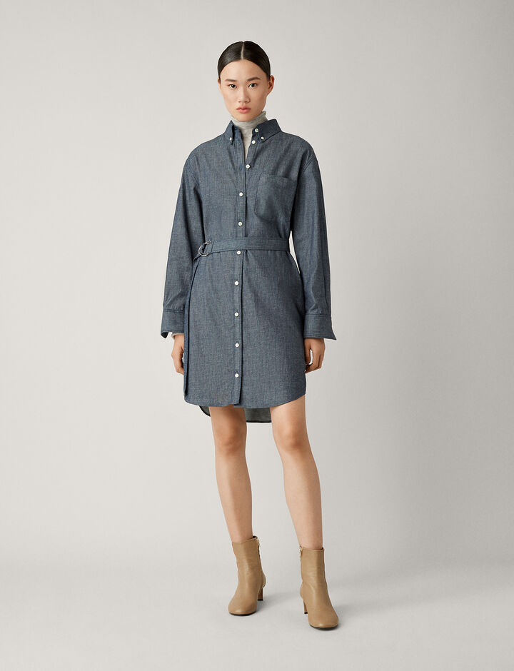 Joseph, Fred Chambray Shirting Dress, in DARK