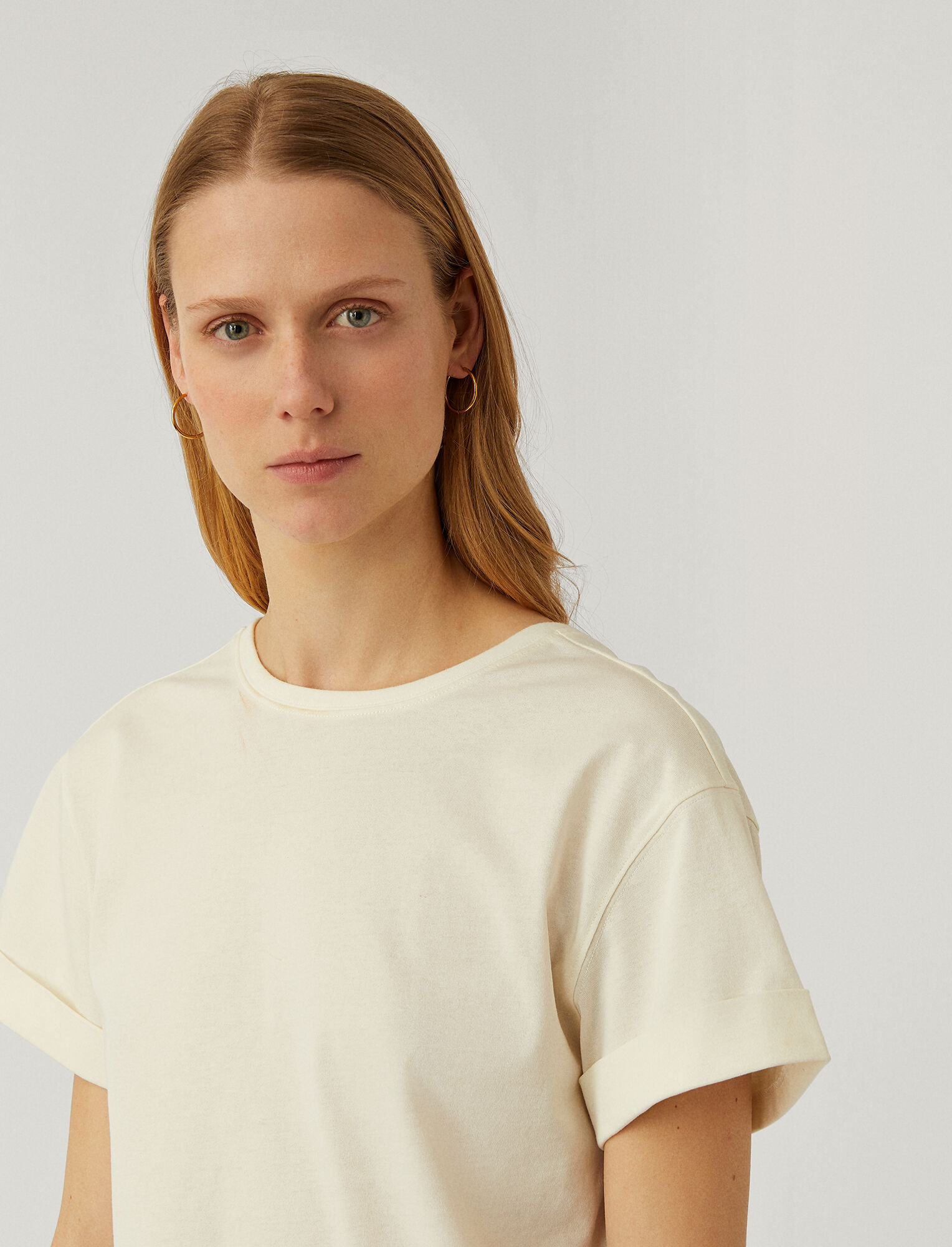 Joseph, Paper Jersey T-Shirt, in IVORY