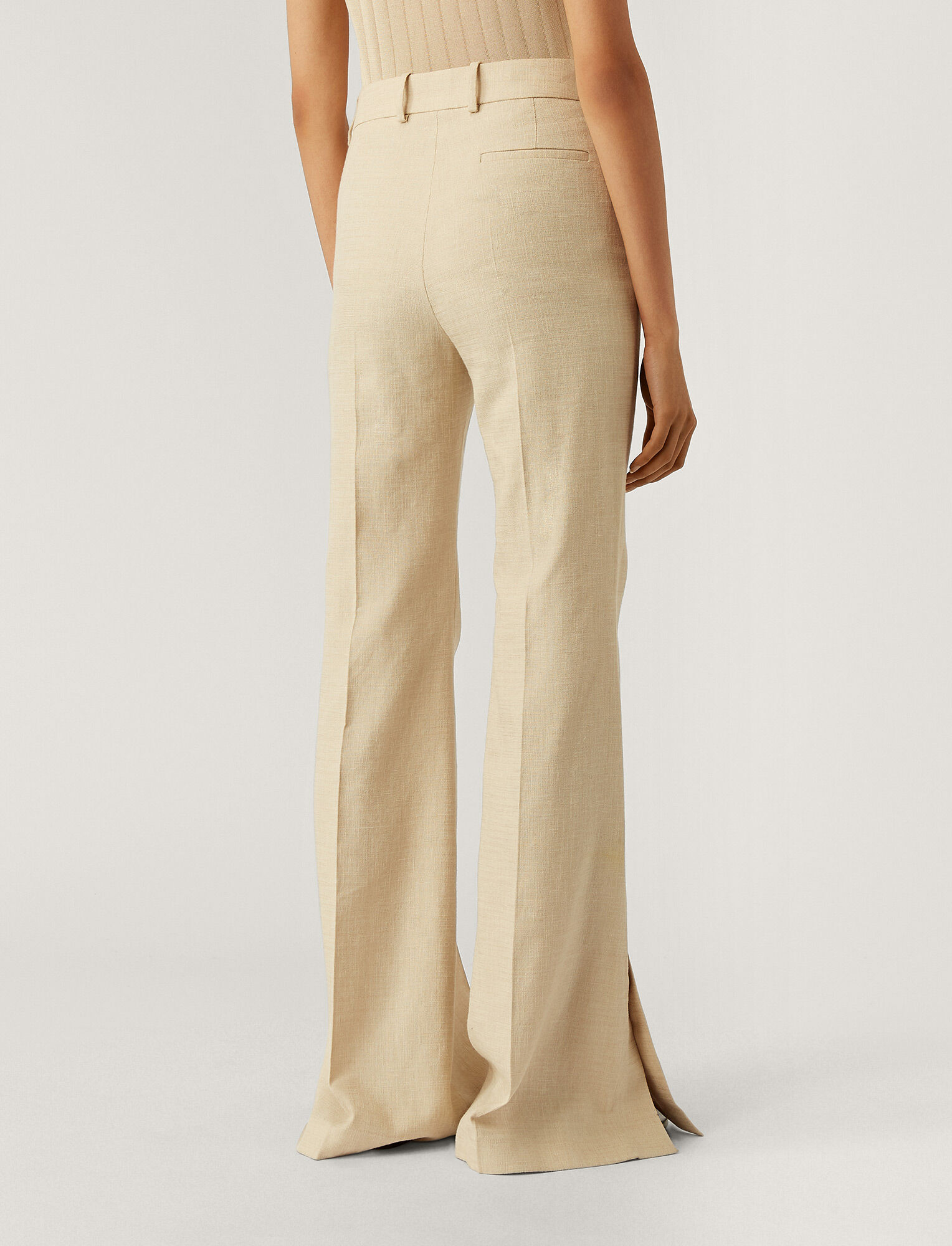 Joseph, Tena Shantung Linen Trousers, in STRAW