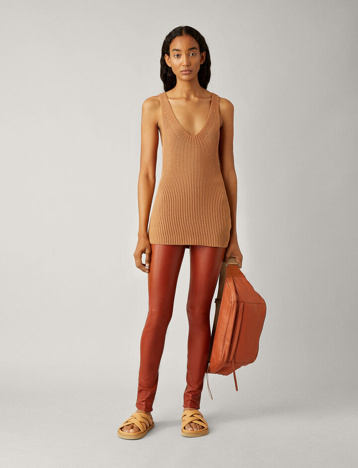 Joseph, Legging-Leather Stretch, in RUST