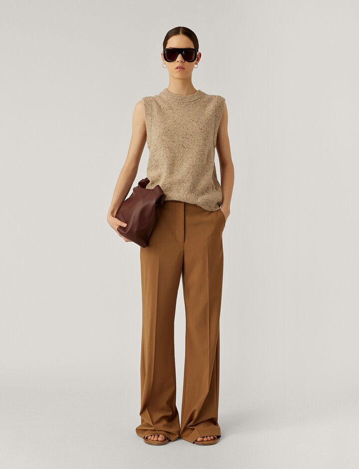 Joseph, Tambi Light Wool Suiting Trousers, in Saddle