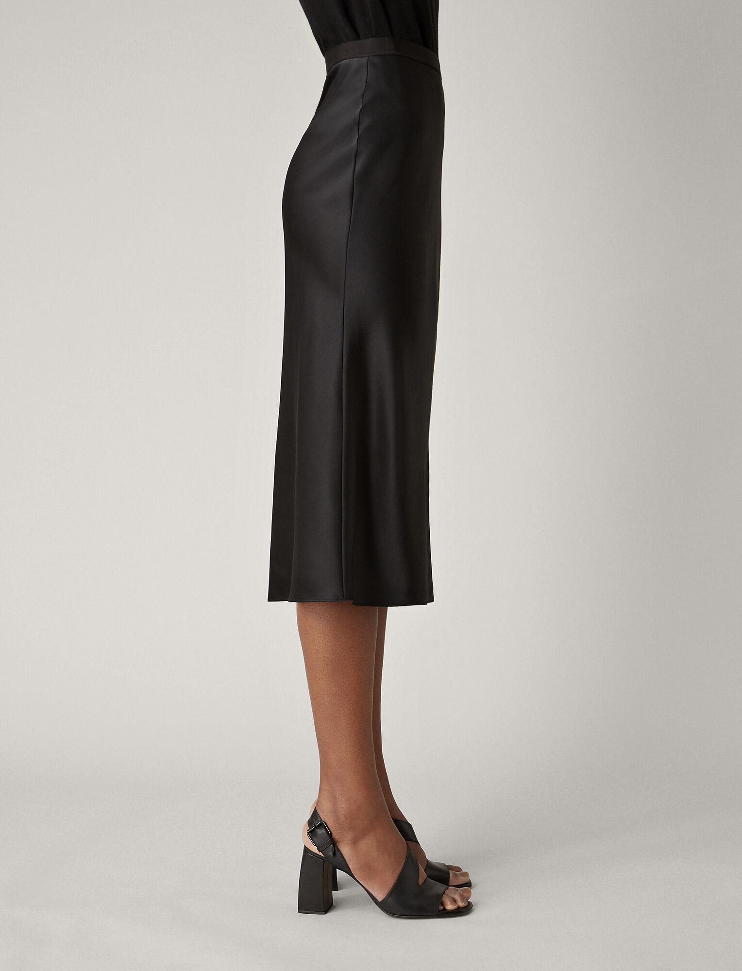 Joseph, Hurst Silk Satin Skirt, in BLACK