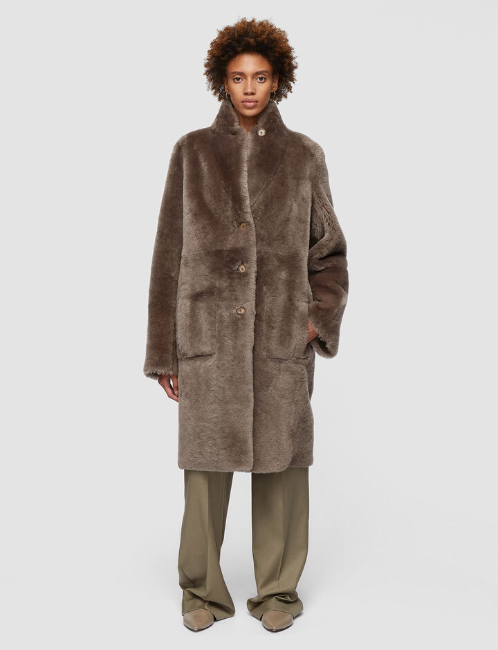 Joseph, Polar Skin Britanny Coat, in TAUPE