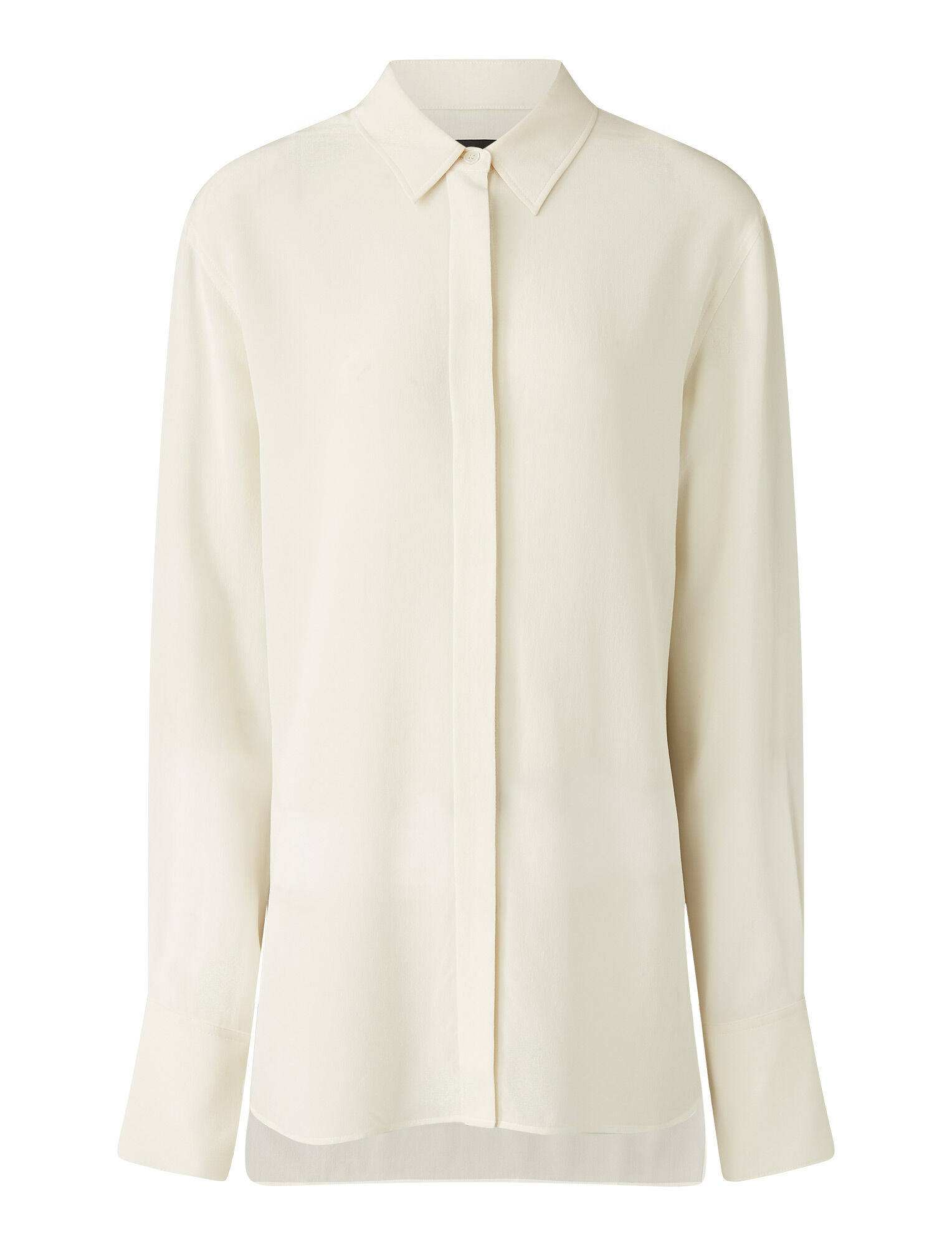 Joseph, Bold Crepe De Chine Blouse, in Ivory