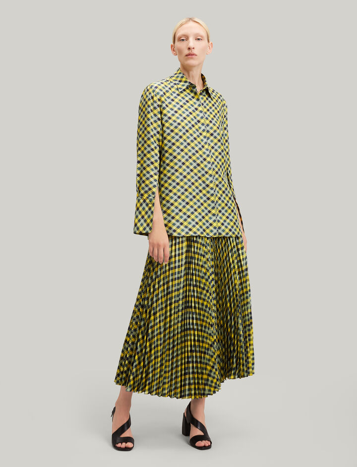 Joseph, Mason Diamond Weave Print Blouse, in YELLOW
